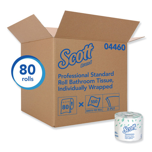 Scott 2 Ply Toilet Tissue, 605/roll, 80 rolls/case   Harmony Lab and Safety Supplies