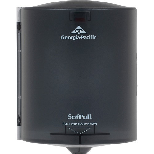 Get Georgia Pacific, Sofpull Centerpull Regular Capacity Paper Towel Dispenser, Translucent Smoke, ea at Harmony Lab & Safety Supplies.