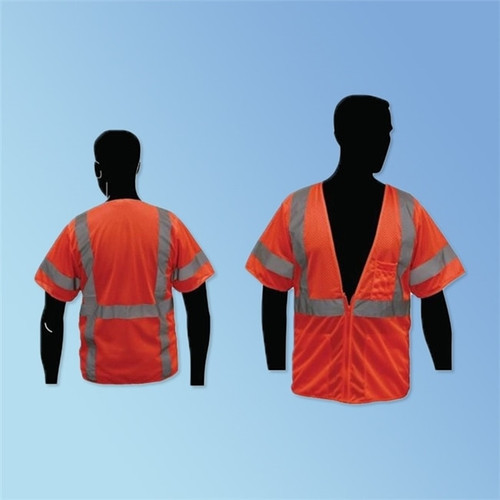 Get HivizGard Class 3 Mesh Safety Vest with Sleeves, Orange LB16004F at Harmony