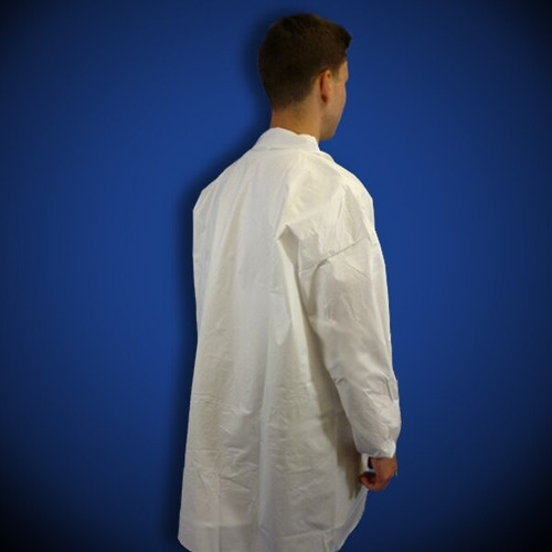 Keyguard (LCO-WO-KG) White Microporous Frocks without pockets