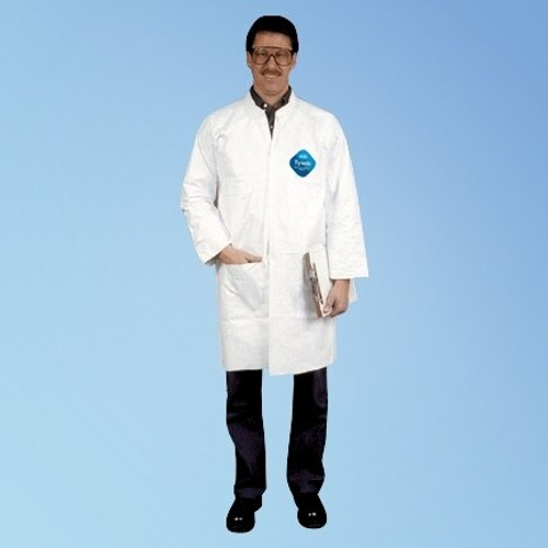DuPont Tyvek TY212S Lab Coats with 2 Pockets