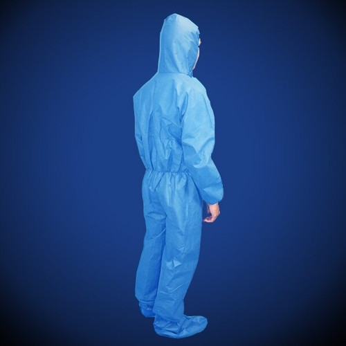 Liberty Glove ProGard (19122B) SMS Blue Coveralls with Hood & Boot and elastic wrist