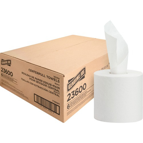 "Get Genuine Joe 2 Ply Center Pull Towels, 7.30"" x 10"", 600' roll, 6 rolls /case at Harmony Lab & Safety Supplies."