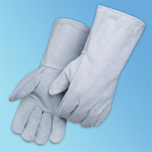 Get Gray Leather Welder Glove, Wing Thumb, LG, 12/pr LIBE7270 at Harmony