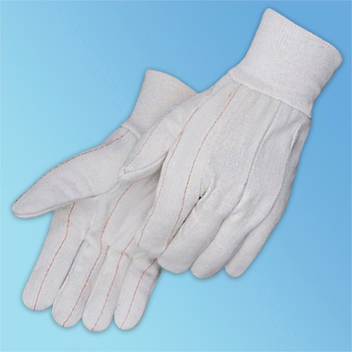 Get White Canvas Double Palm Glove at Harmony