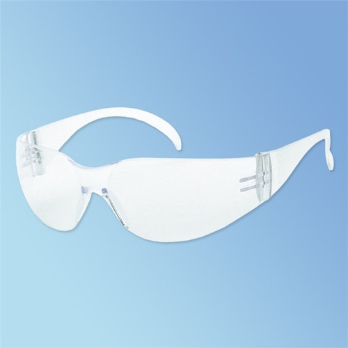 iNOX F-1 Clear Wraparound Polycarbonate Safety Glasses, 12/box 1715Q/C at Harmony Lab & Safety Supplies