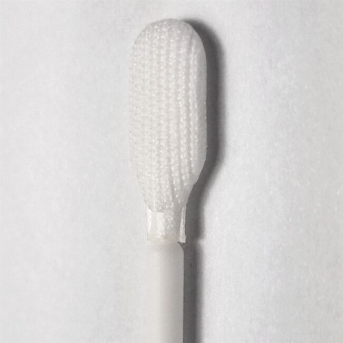 Tekniswab Elongated Tip Knitted Polyester Swab, 6 in., Polypropylene Shaft, 100/bag   Harmony Lab and Safety Supplies