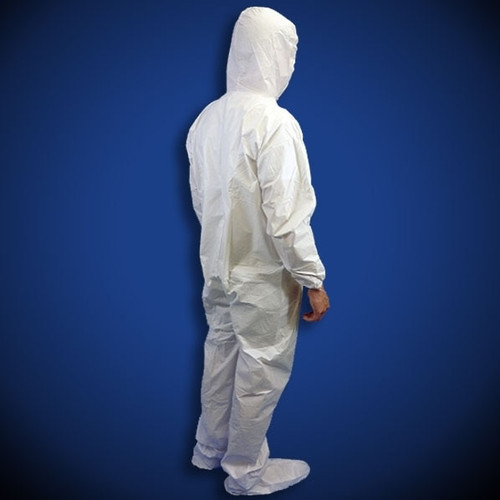 KeyGuard (CVL-KG-B-) White Microporous Coveralls with Hood & Boot