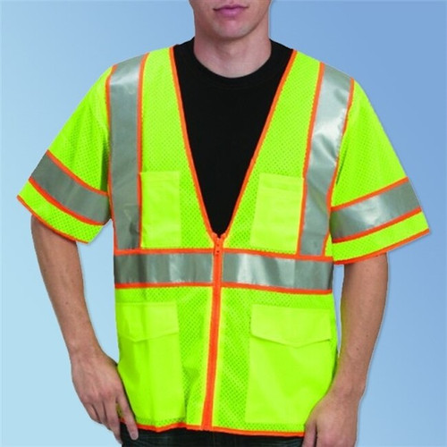 Get HivizGard Class 3 Mesh Safety Vest with Sleeves, Lime Green 1 LBC16014 at Harmony