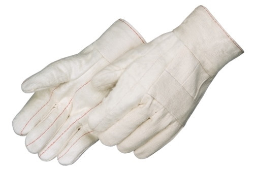 Get White Cotton Canvas Hot Mill Glove, Double Palm, LG,12/pr LIB4551SP at Harmony