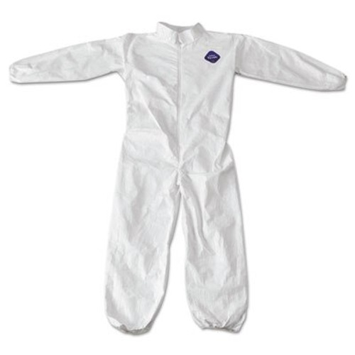 Tyvek TY125S Coveralls with elastic wrist & ankle, 25/case   Harmony Lab and Safety Supplies