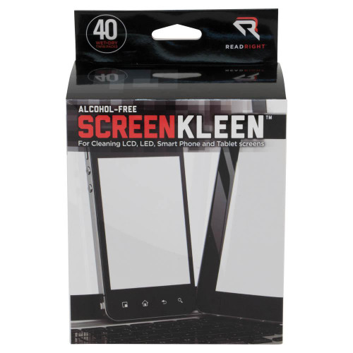 ReadRight LCD ScreenKleen Alcohol-Free Wet/Dry Wipes, 40 Sets RR1391 at Harmony Lab and Safety Supplies