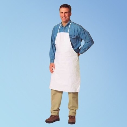 Tyvek TY273 Aprons, 28 x 36 in., 100/case | Harmony Lab and Safety Supplies