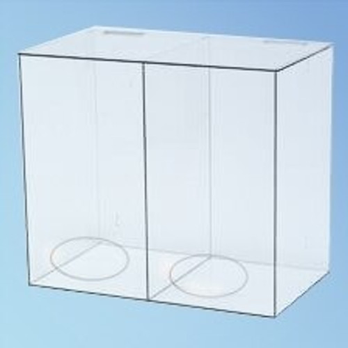 Two Compartment Dispenser, 20 in., each | Harmony Lab and Safety Supplies