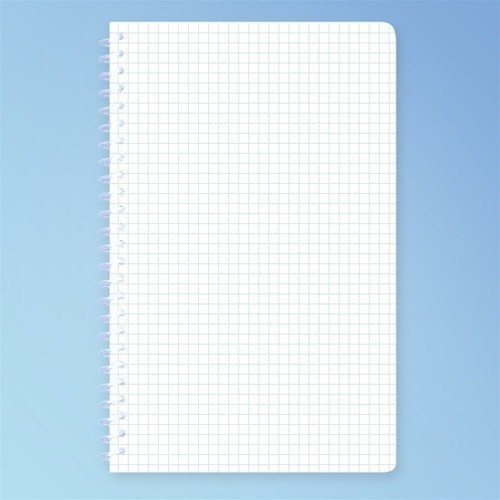 Cleanroom Notebook, 5.5 x 8.5 in. Engineering Grid, 100 Pages, each | Harmony Lab and Safety Supplies