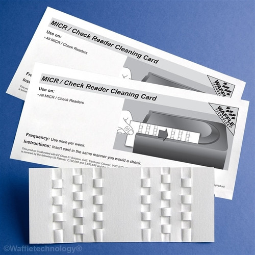 Get Waffletechnology MICR / Check Reader Cleaning Card, 15/box XKW3-CRB15 at Harmony