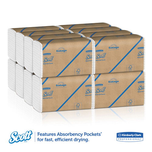Get Scott Essential White Multi-Fold Towels, 4000/case LWMTS at Harmony