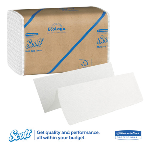 Scott Essential White Multi-Fold Towels, 4000/case | Harmony Lab and Safety Supplies