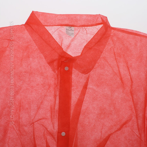 Collar detail PolyGard (15300R) Red Polypropylene Frocks without pockets