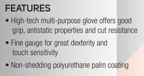 Get Static Dissipative Cut Resistant Polyurethane Coated Glove, 1/pair SS13TAPUCF at Harmony