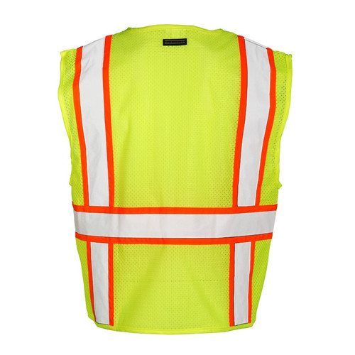 Get ML Kishigo 1163 Class 2 Solid Front/Back Mesh Safety Vests, Lime Green, at Harmony