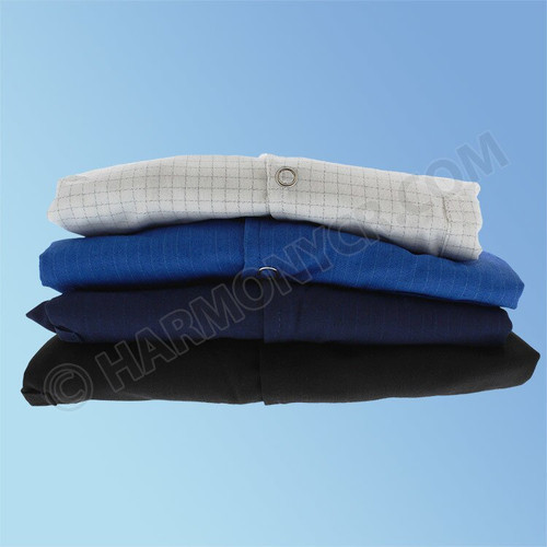 Get ESD Poly/Cotton Lab Coats, Snap Cuff in a variety of colors at Harmony