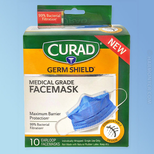 Curad Germ Shield Medical Grade Face Mask - Front of the Box