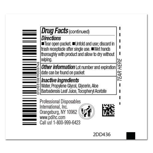 Back Label - Sani-Hands ALC Antimicrobial Hand Wipes P-D43600 at Harmony
