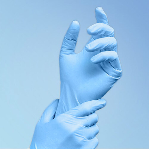 TechniGlove 9.5 in. Blue Nitrile Glove, Class 100, 1000/case   Harmony Lab and Safety Supplies