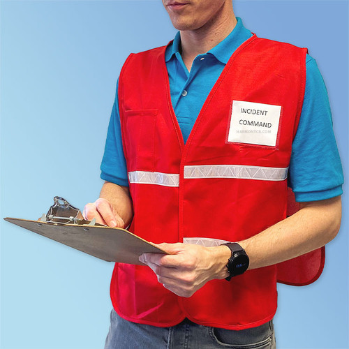Get HiVizGard Red Incident Command Safety Vests (1620RD) at Harmony