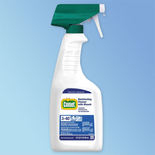 Comet Disinfectant Cleaner with Bleach, 32 oz Spray Bottle, ea (PGC75350)