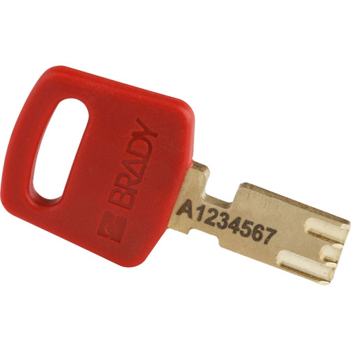 Get Brady SafeKey Nylon Lockout Padlocks with Steel Shackle with color-matching keys, Red, 6/pack (NYL-RED-38ST-KA6PK) at Harmony