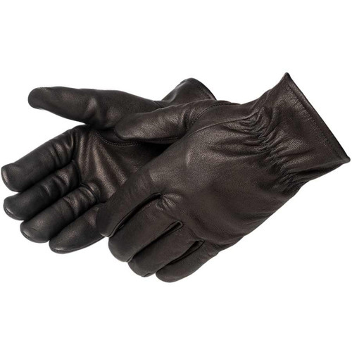 Black Insulated Goatskin Drivers Glove, Fleece Lined at Harmony
