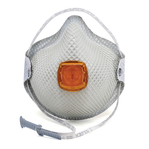 Moldex 2800 N95 Particulate Respirators with Relief From Organic Vapors, HandyStrap® & Ventex® Valve (LAG-2800N95) at Harmony Lab & Safety