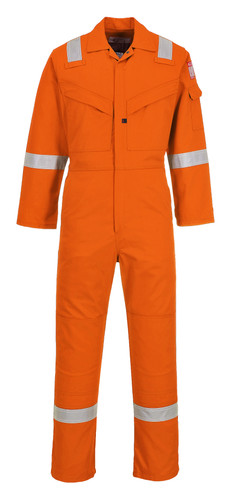 Bizflame Lightweight Antistatic AR/FR Coverall, Lightweight and Antistatic, Arc Rated CAT 2, Orange (UFR21ORR) by Harmony Lab & Safety Products