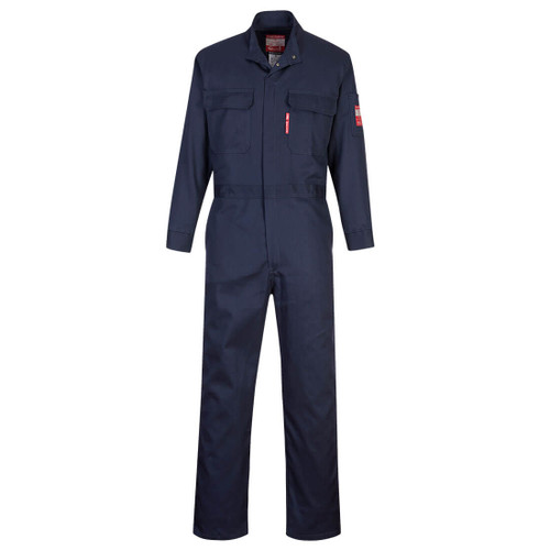 Get Bizflame 88/12 AR/FR Coverall, Arc Flash CAT 2, Navy (UFR88NAR) by Harmony Lab & Safety Supplies