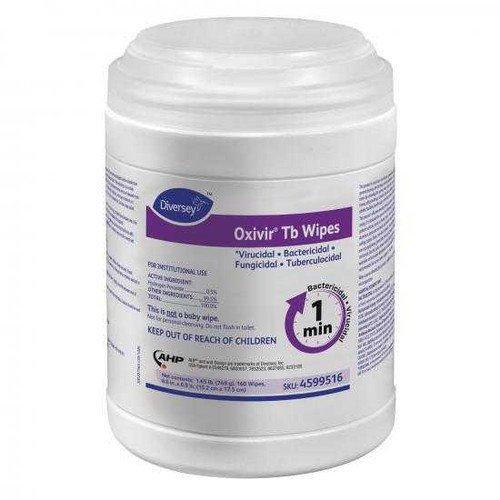 "Get Diversey Oxivir Tb Disinfectant Wipes, 6"" x 7"", 160/tub (SDVO4599516) at Harmony Lab & Safety Supplies"