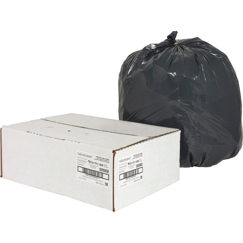 Black Low Density Trash Can Liners, 24 x 33 in., 16 gal, .85 mil, 500/case (Nature Saver 00988)   Harmony Lab and Safety Supplies