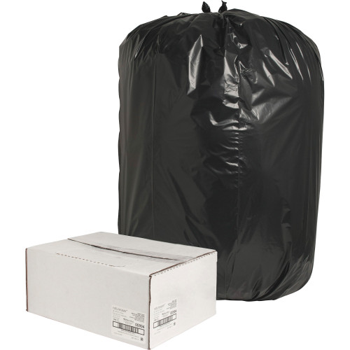 Black Low Density Trash Can Liners, 38 x 58 in., 55 Gal, 1.65 Mil, 100/case (NAT00994) | Harmony Lab and Safety Supplies