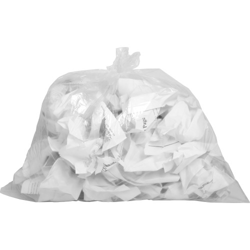 Clear Linear Low Density Trash Can Liners, 24 x 23 in., 7-10 gal, .60 mil, 500/case (01010) | Harmony Lab and Safety Supplies