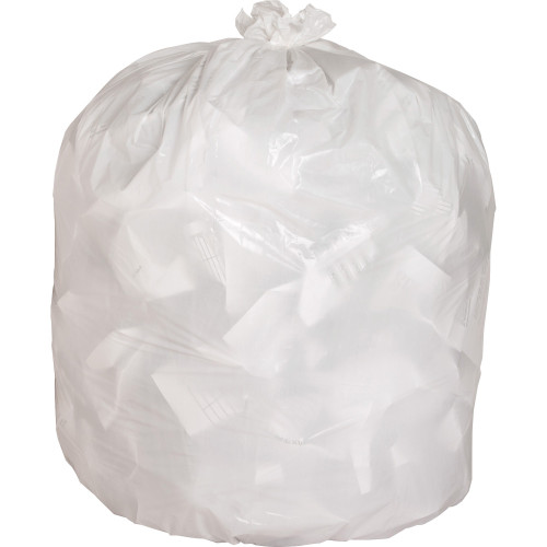 Clear Low Density Trash Can Liners, 24 x 33 in., 7-10 gal, .85 Mils, 150/case (GJO02312) | Harmony Lab and Safety Supplies