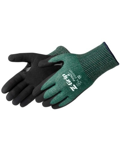 Liberty Glove F4920RT Z-Grip Cut Resistant Nitrile Micro-Foam Coated Gloves, Green/Black, 12/pair   Harmony Lab and Safety Supplies