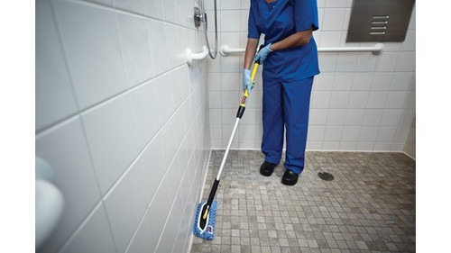 """Rubbermaid Commercial Hygen 11"""" Flexi-Frame cleans both contoured and flat surfaces