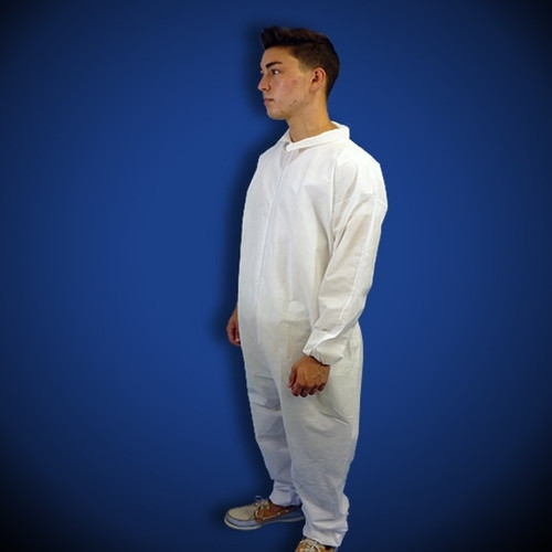 Get KeyStone White SMS Coveralls, elastic wrist & ankle, 25/cs T180-SMS-WH at Harmony