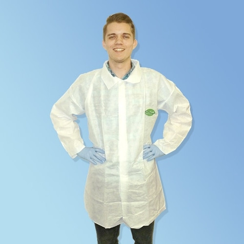 Get ProGard SMS White Frocks, Open Wrist and no pocket, 30/cs T250SMS at Harmony