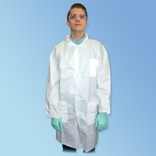Liberty Glove PermaGard 18301 Microporous Lab Coats with 3 Pockets