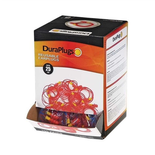 Get DuraPlugs Reusable Earplugs, 25 NRR, Corded 100 pair/box LB14271 at Harmony