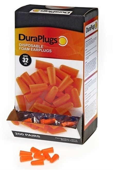 Get DuraPlugs Disposable Foam Uncorded Earplugs, 32 NRR, 200 pairs LB14310 at Harmony