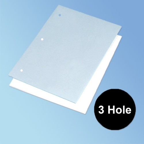 """3 Hole Punched Cleanroom Paper, 8.5"""" x 11"""", 22 lb, Latex-Free"""