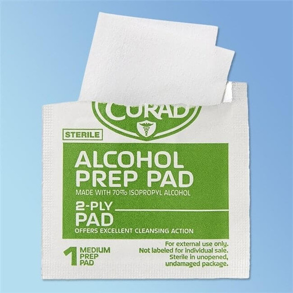 CURAD Sterile Alcohol Pads, 100/box CUR090737RB at Harmony Lab and Safety Supplies
